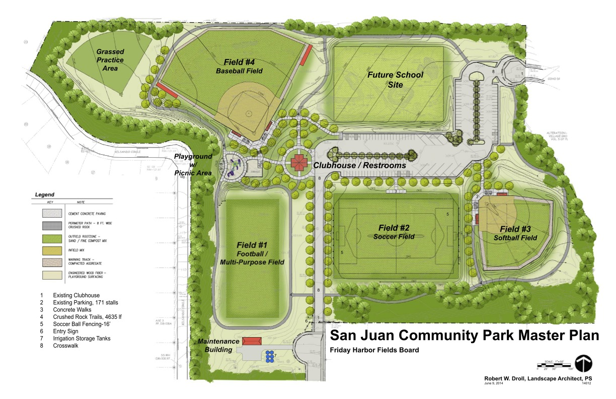 Football Stadium Floor Plan San Juan Community Park Master Plan